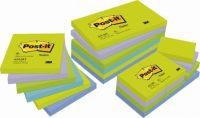 3M Post-it 653-MT Neon zöld szívárványcsomag - vegyes neon zöld színben - 12 tömb / csomag (3M 653-MT)