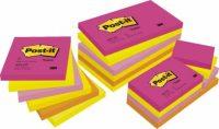 3M Post-it 653-TF Neon pink szívárványcsomag - vegyes neon pink színben - 12 tömb / csomag (3M 653-TF)