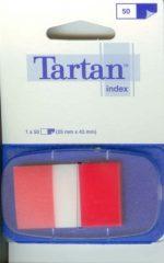 3M Tartan Index 6805-1EU standard jelölőcímke - piros - 50 címke / bliszter