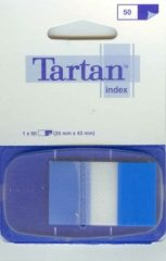3M Tartan Index 6805-2EU standard jelölőcímke - kék - 50 címke / bliszter