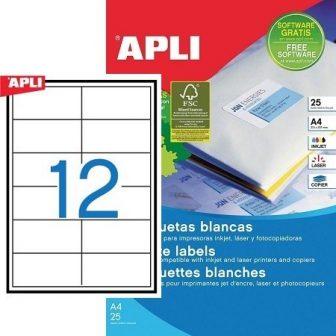 APLI 01213 öntapadós etikett címke