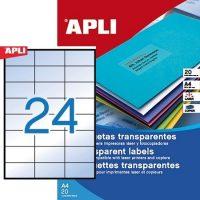 APLI 01224 öntapadós etikett címke