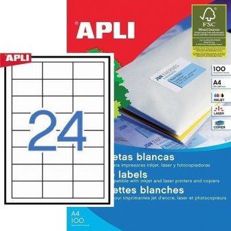 APLI 01263 öntapadós etikett címke