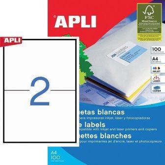 APLI 01264 öntapadós etikett címke