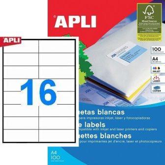 APLI 01274 öntapadós etikett címke