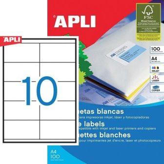 APLI 01278 öntapadós etikett címke