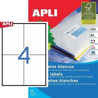 APLI 01280 öntapadós etikett címke