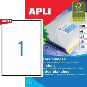 APLI 01281 öntapadós etikett címke