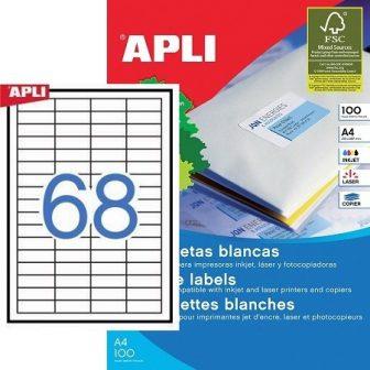 APLI 01282 öntapadós etikett címke