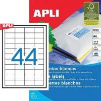 APLI 01285 öntapadós etikett címke