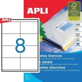 APLI 01292 öntapadós etikett címke