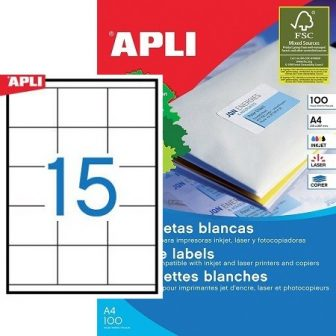 APLI 01295 öntapadós etikett címke