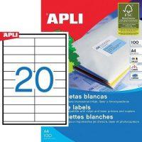 APLI 01299 öntapadós etikett címke