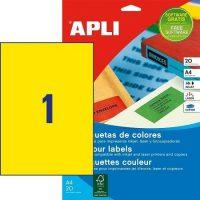 APLI 01599 öntapadós etikett címke