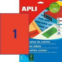 APLI 01601 öntapadós etikett címke