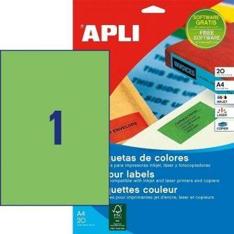 APLI 01602 öntapadós etikett címke