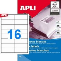 APLI 01785 öntapadós etikett címke