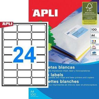 APLI 02409 öntapadós etikett címke