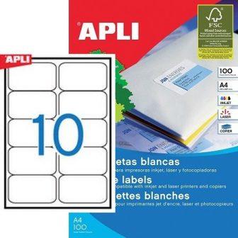 APLI 02411 öntapadós etikett címke