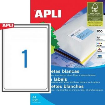 APLI 02412 öntapadós etikett címke