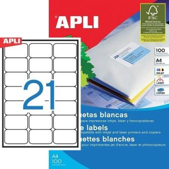 APLI 02414 öntapadós etikett címke