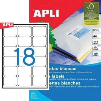 APLI 02415 öntapadós etikett címke