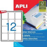 APLI 02416 öntapadós etikett címke