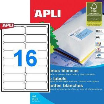 APLI 02418 öntapadós etikett címke