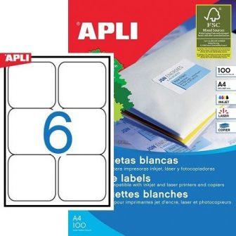 APLI 02421 öntapadós etikett címke