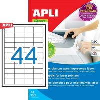 APLI 02516 öntapadós etikett címke