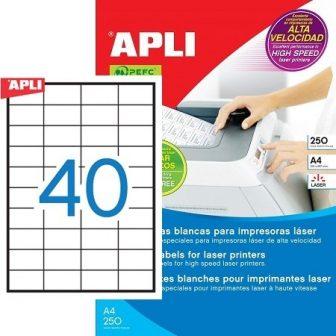 APLI 02518 öntapadós etikett címke