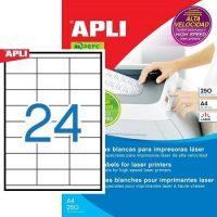 APLI 02519 öntapadós etikett címke