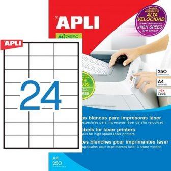 APLI 02520 öntapadós etikett címke