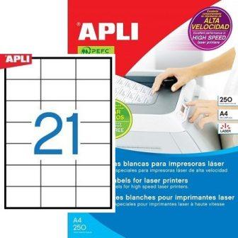 APLI 02521 öntapadós etikett címke