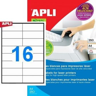 APLI 02525 öntapadós etikett címke