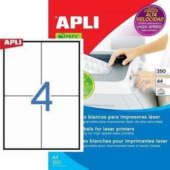 APLI 02528 öntapadós etikett címke