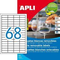 APLI 03053 öntapadós etikett címke