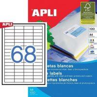 APLI 03128 öntapadós etikett címke