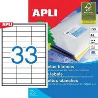 APLI 03132 öntapadós etikett címke