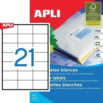 APLI 03136 öntapadós etikett címke