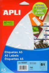 APLI etikett címke Ref. 10307 - 45 x 8 mm 3 pályás univerzális visszaszedhető ékszercímke (Ref. 10307, LCA10307)
