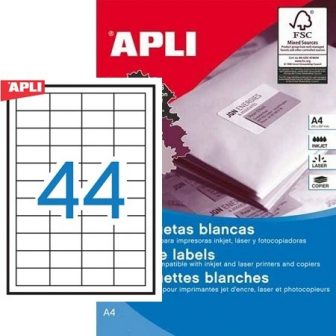 APLI 10558 öntapadós etikett címke