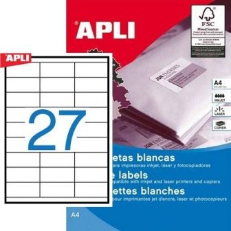 APLI 10560 öntapadós etikett címke