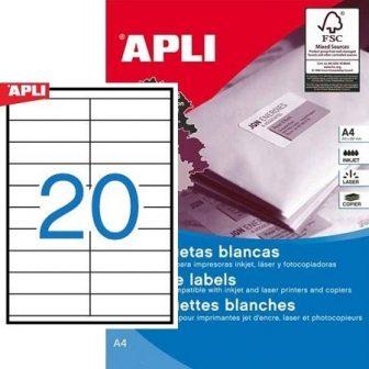 APLI 10562 öntapadós etikett címke