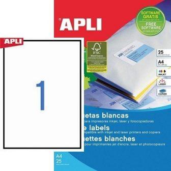 APLI 10819 öntapadós etikett címke