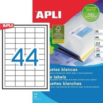 APLI 10825 öntapadós etikett címke