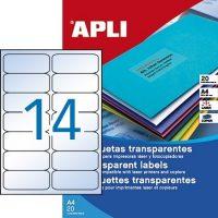 APLI 10969 öntapadós etikett címke