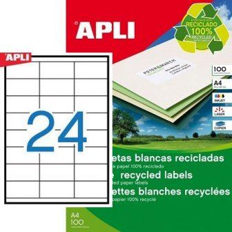 APLI 12060 öntapadós etikett címke