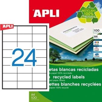 APLI 12061 öntapadós etikett címke