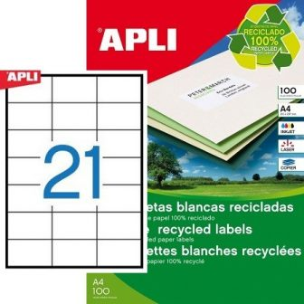 APLI 12062 öntapadós etikett címke